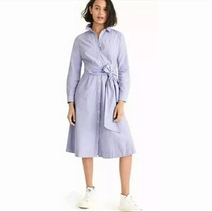 NWT J Crew Tie-Waist Shirt Dress